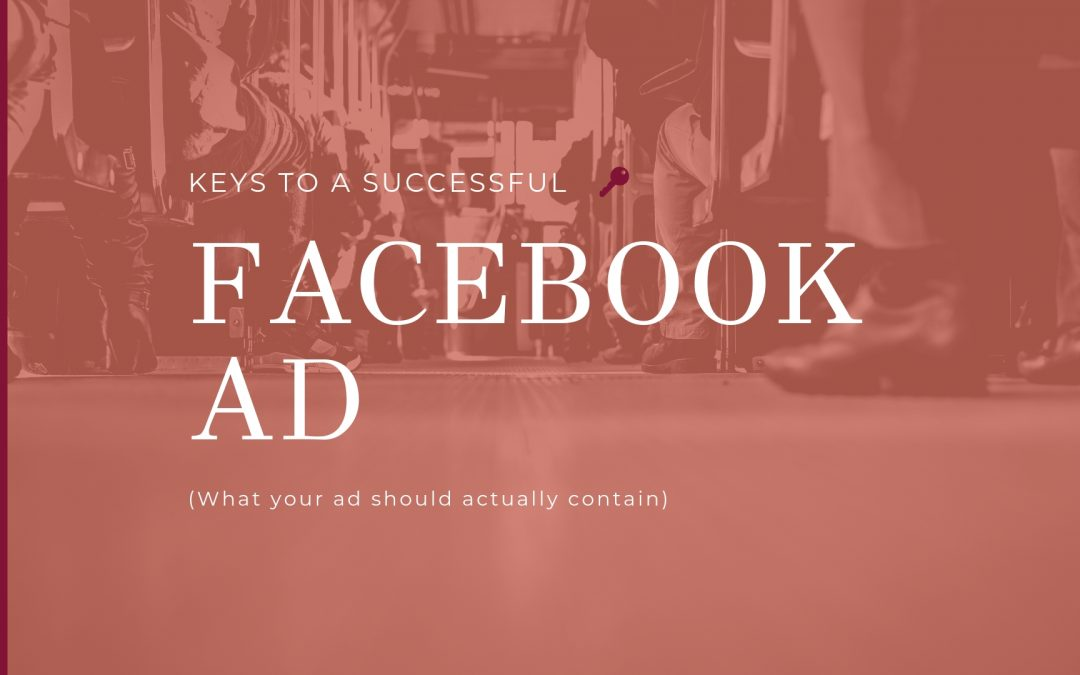 Keys to a Successful Facebook ad image with key and people picture